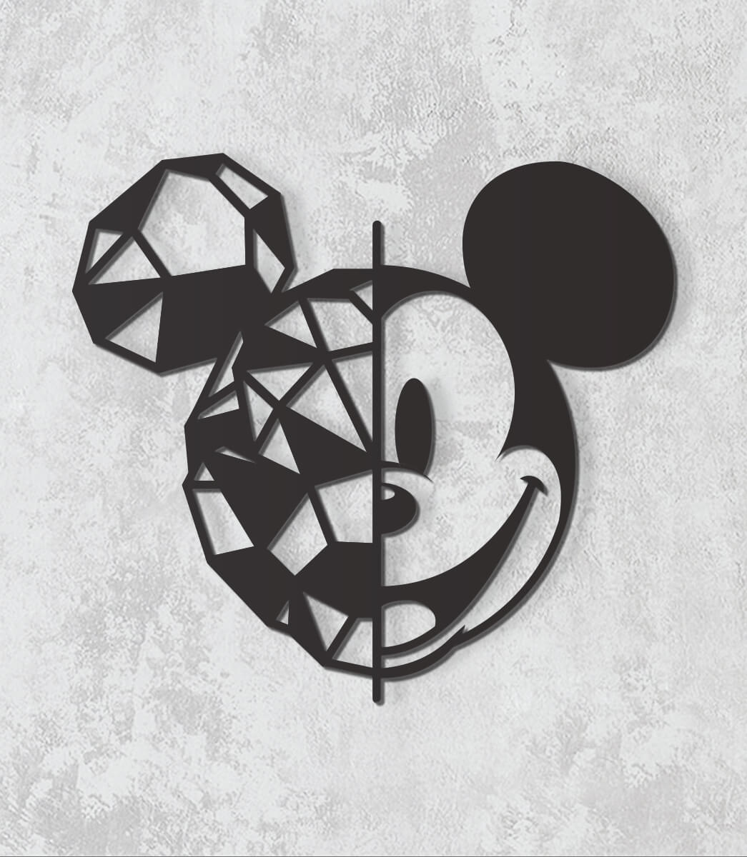 Decorativo 2D - Mickey geométrico