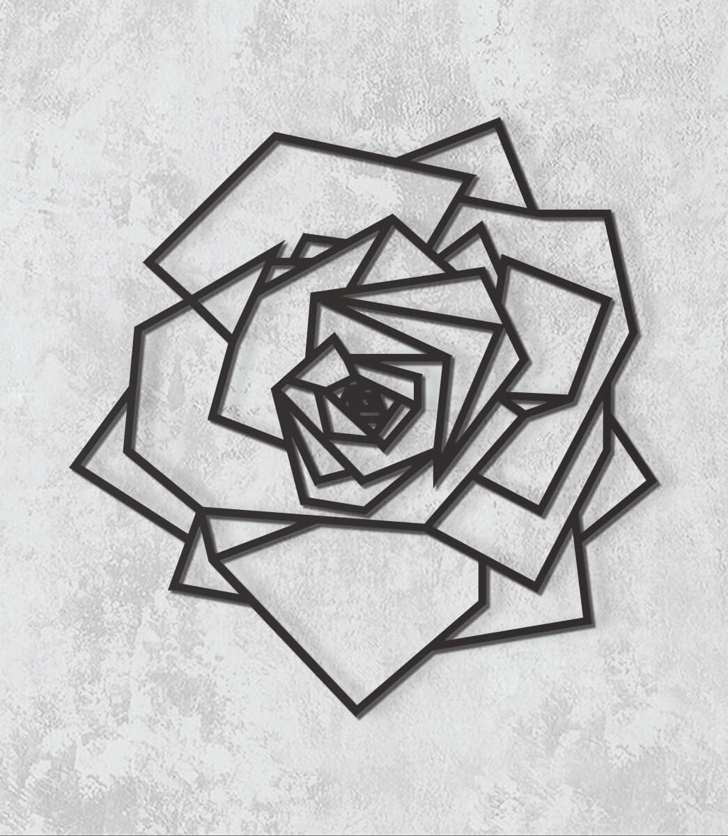 Decorativo 2D - Rosa geométrica