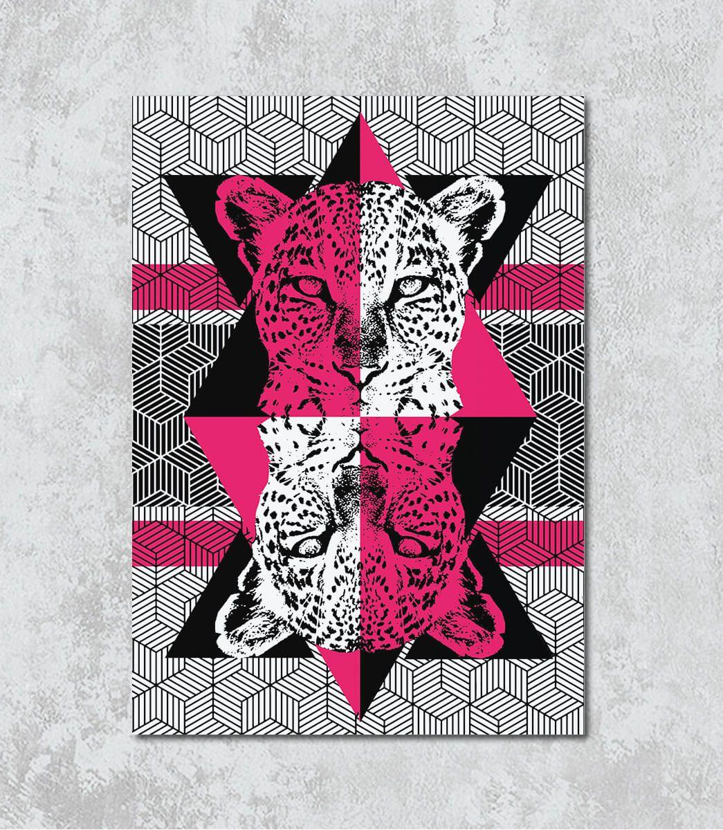 Decorativo - Guepardo geométrico