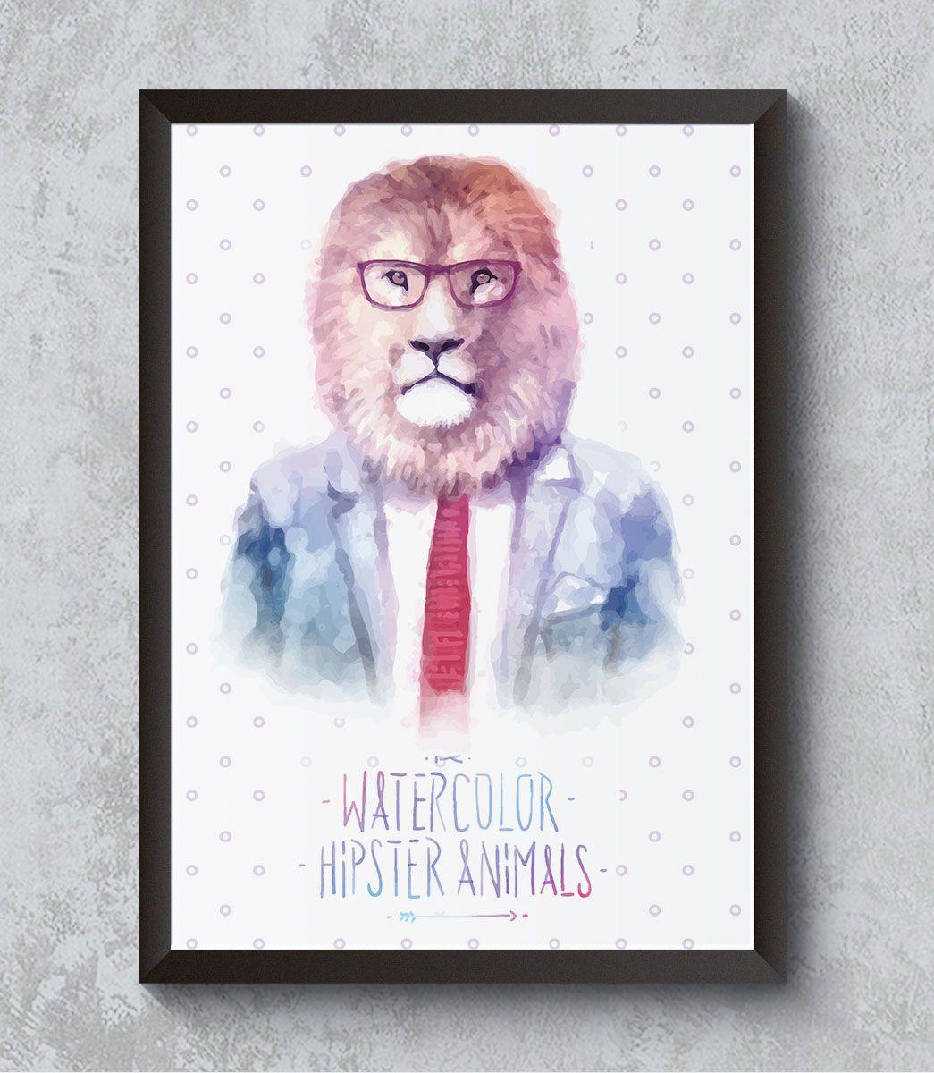 Decorativo - Leão hipster