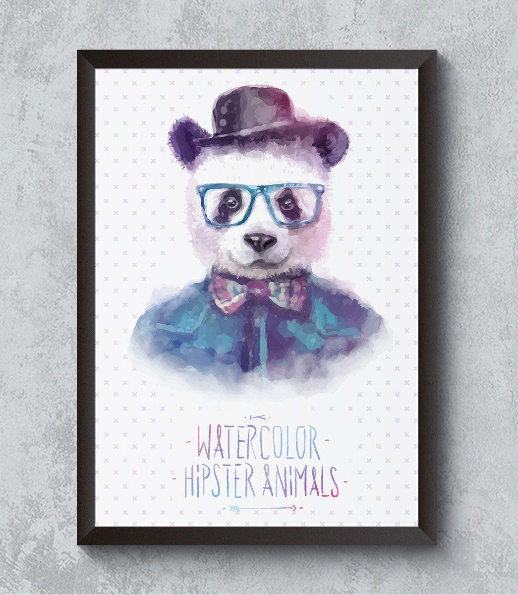 Decorativo - Panda hipster