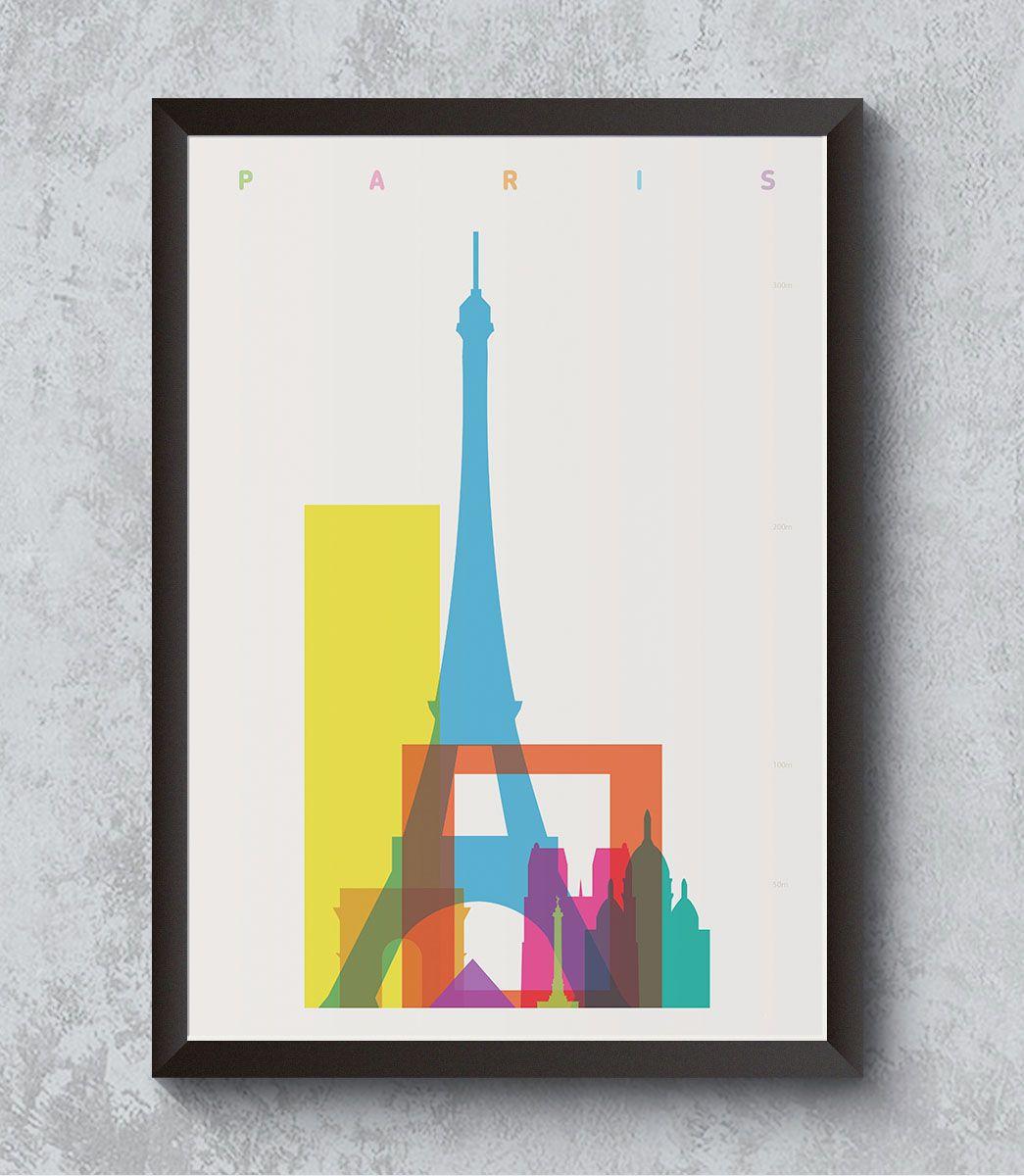 Decorativo - Paris em cores