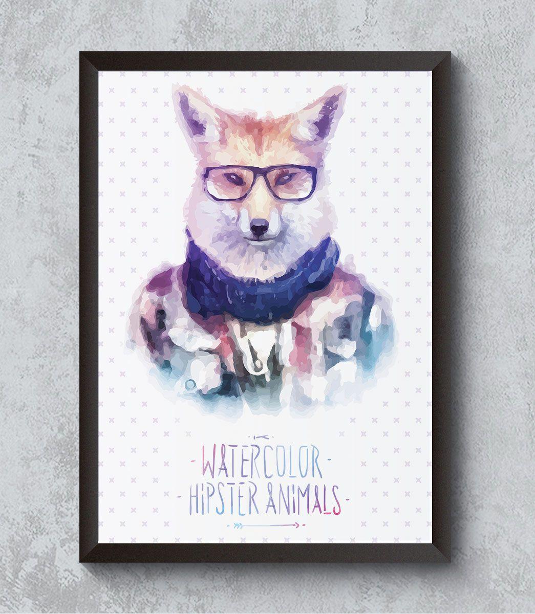 Decorativo - Raposa hipster