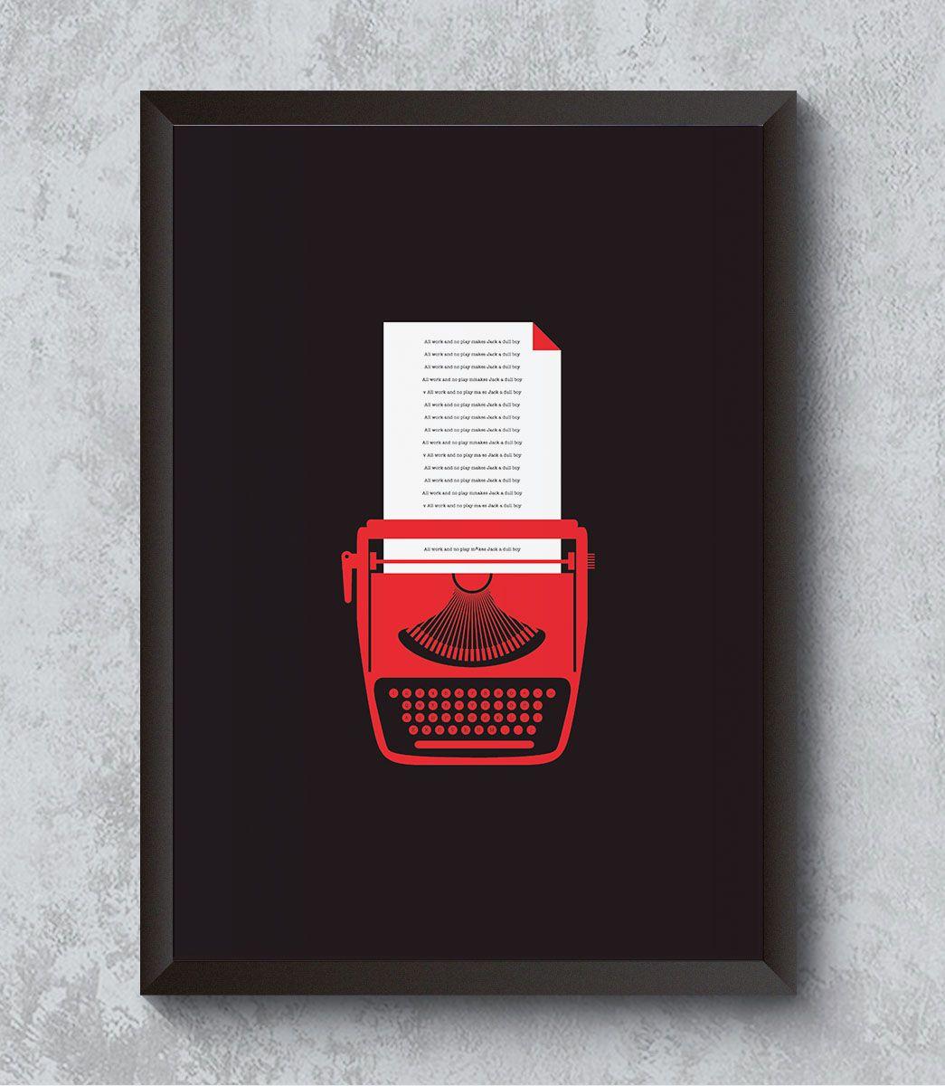 Decorativo - Máquina de Escrever em ação