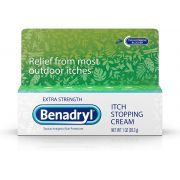 Benadryl Extra Strength Anti-Itch Relief Cream for Most Outdoor Itches, Topical Analgesic