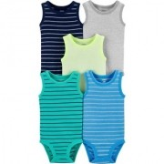 Kit 5 Body Regata Menino - Carters