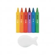 Lápis Risque e Apague com Esponja Colorido - Buba