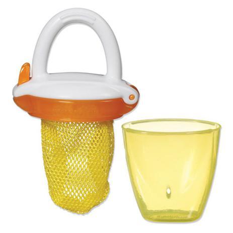 Alimentador para Bebês com Redinha e Tampa Amarelo e Laranja - Munchkin