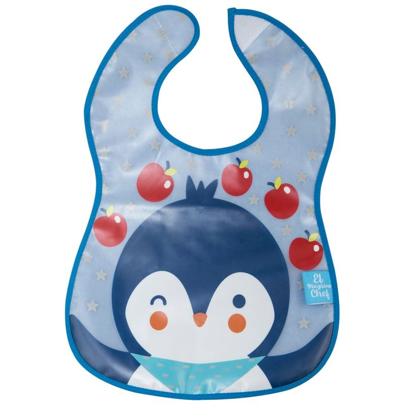 Babador Impermeável Atoalhado Pinguim - Girotondo Baby