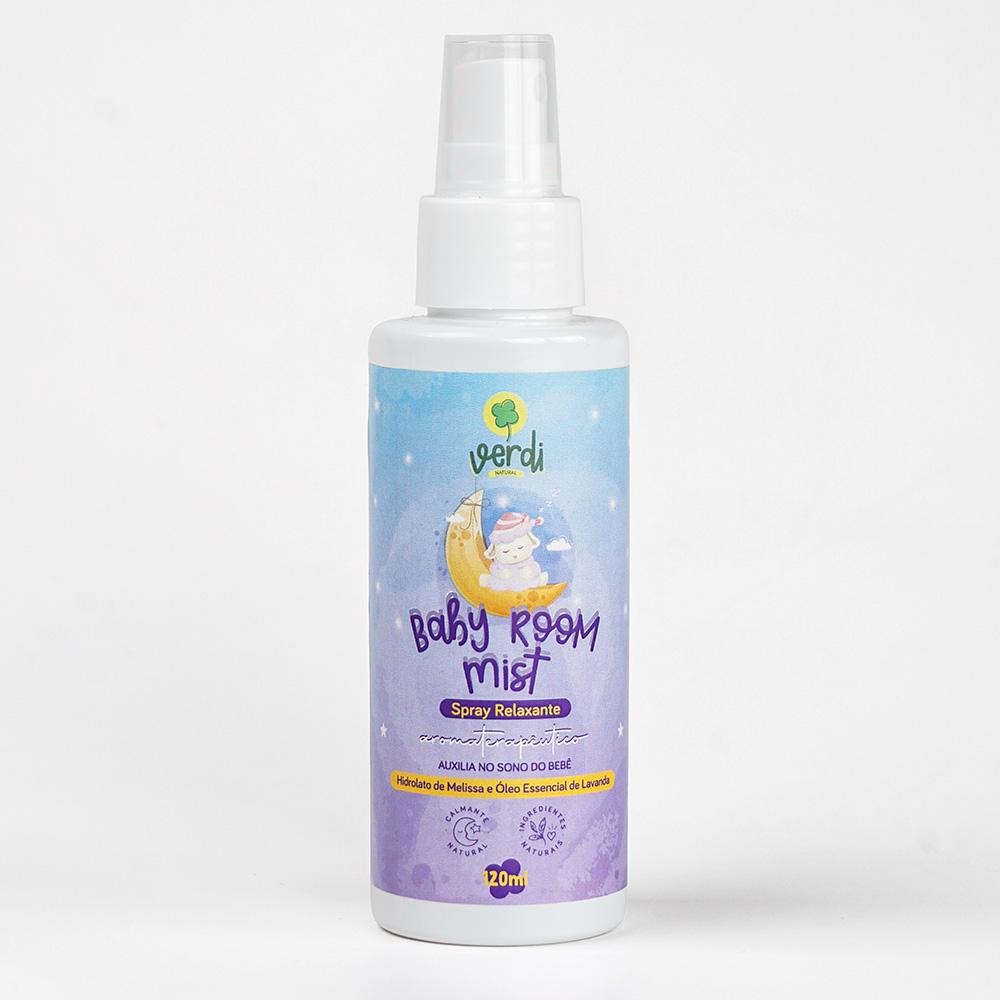 Baby Room Mist Spray Relaxante Aromaterapêutico com Hidrolato de Melissa e Óleo Essencial de Lavanda - Verdi