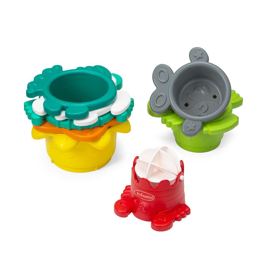 Brinquedo de banho cubos empilhaveis - Infantino