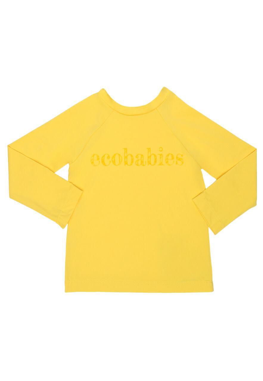 Camisa Manga Longa Banho Piscina e Mar FPU50 Amarela - Ecoeplay