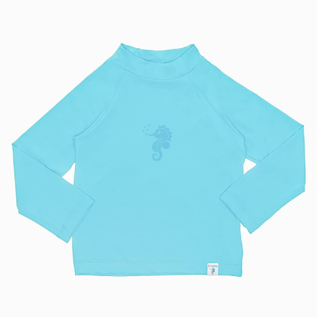 Camisa Manga Longa Banho Piscina e Mar FPU50 Azul - Ecoeplay