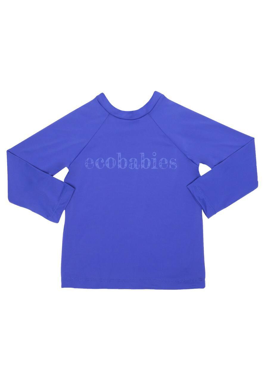 Camisa Manga Longa Banho Piscina e Mar FPU50 Azul Royal  - Ecoeplay