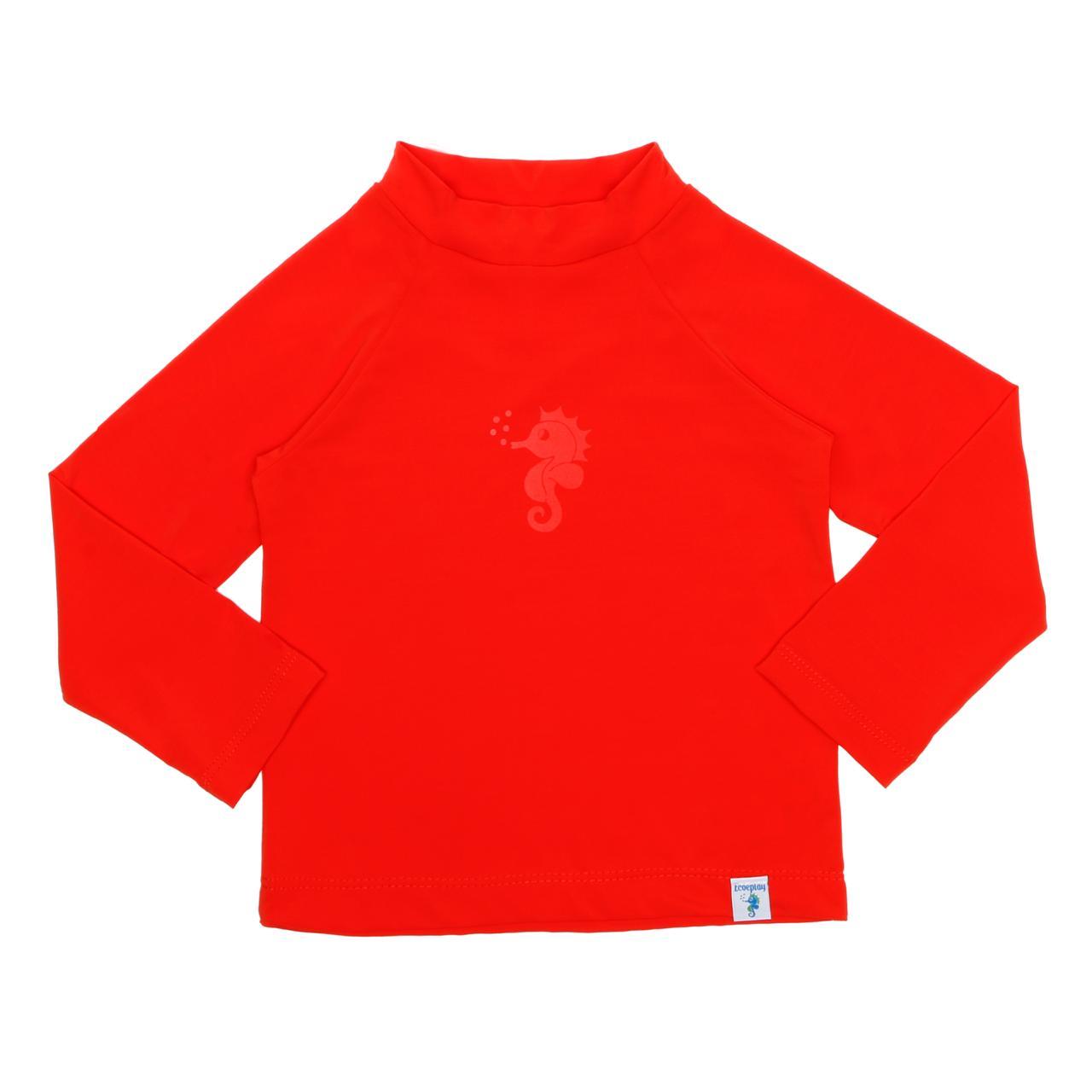 Camisa Manga Longa Banho Piscina e Mar FPU50 Vermelha - Ecoeplay