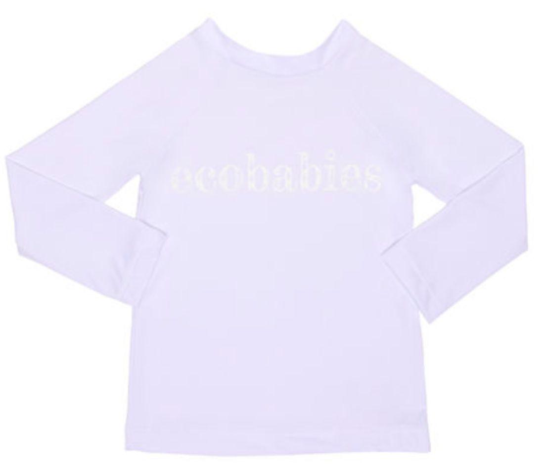 Camisa Manga Longa Banho Piscina e Mar FPU50 Branca - Ecobabies