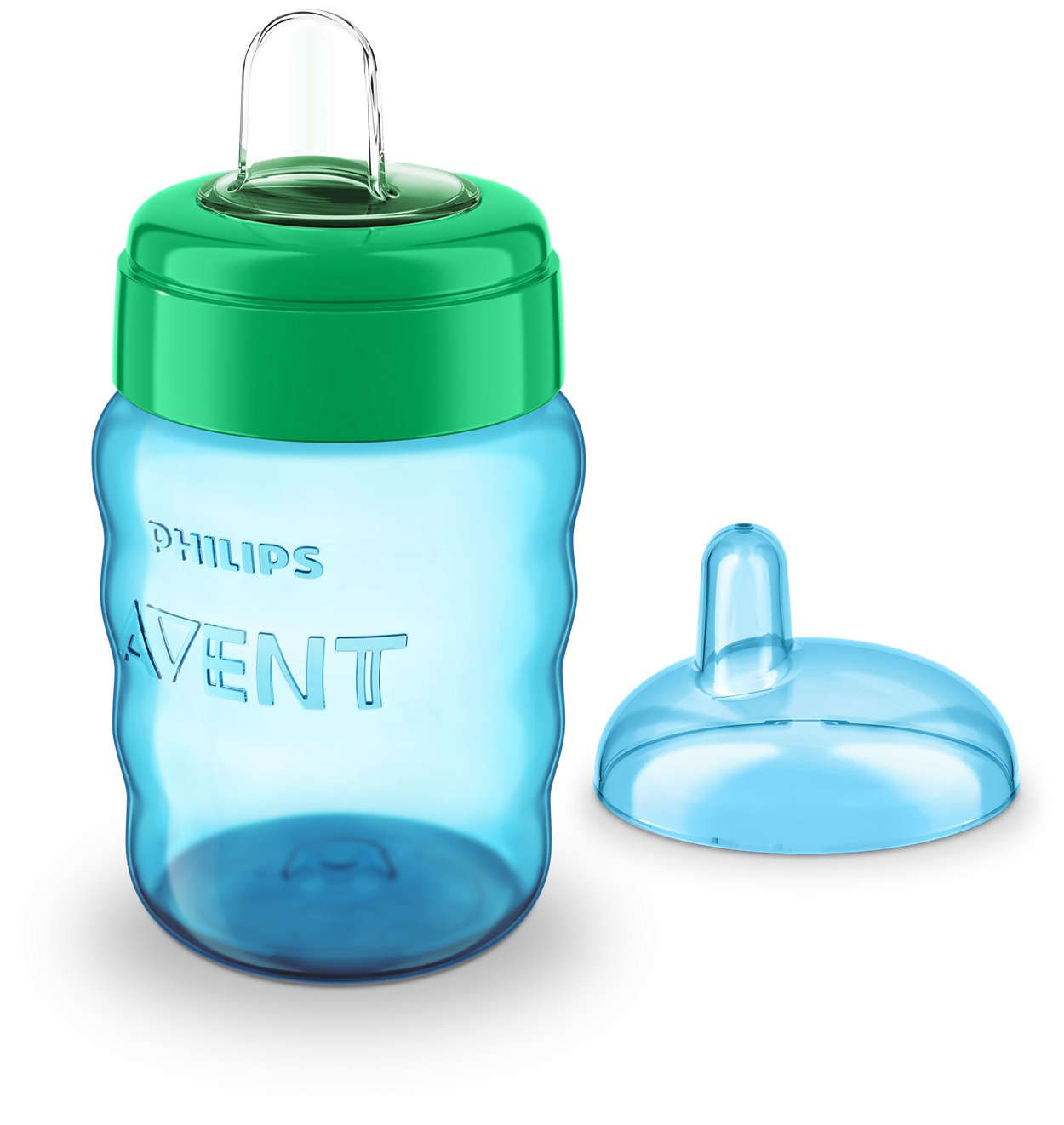 Copo Easy Sip 260ml 9m+ Azul - Philips Avent