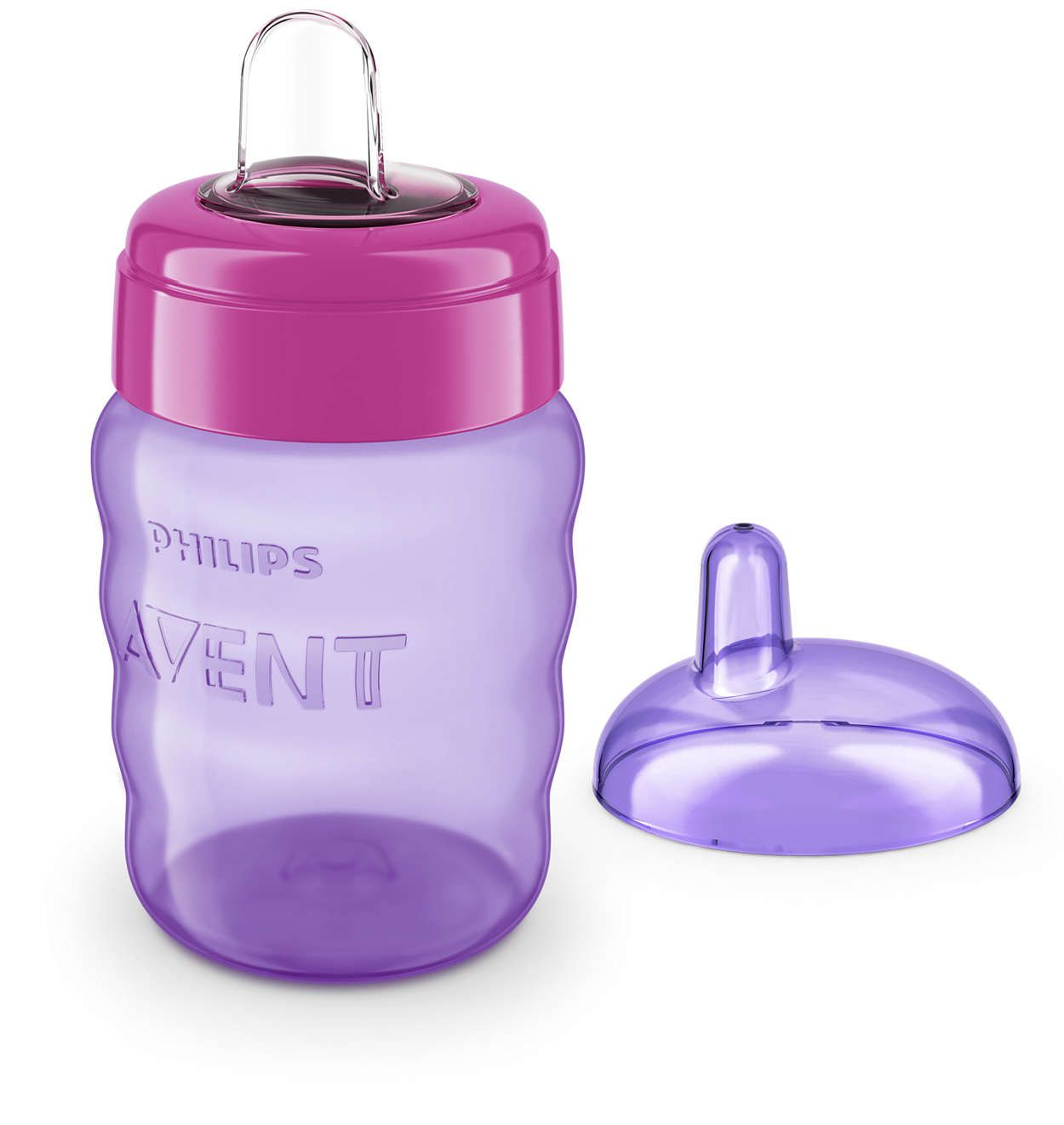 Copo Easy Sip 260ml 9m+ Rosa - Philips Avent