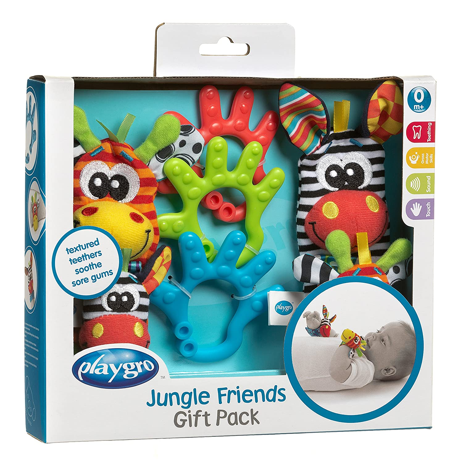 Kit De Mordedores Infantis Jungle Friends Gift Set