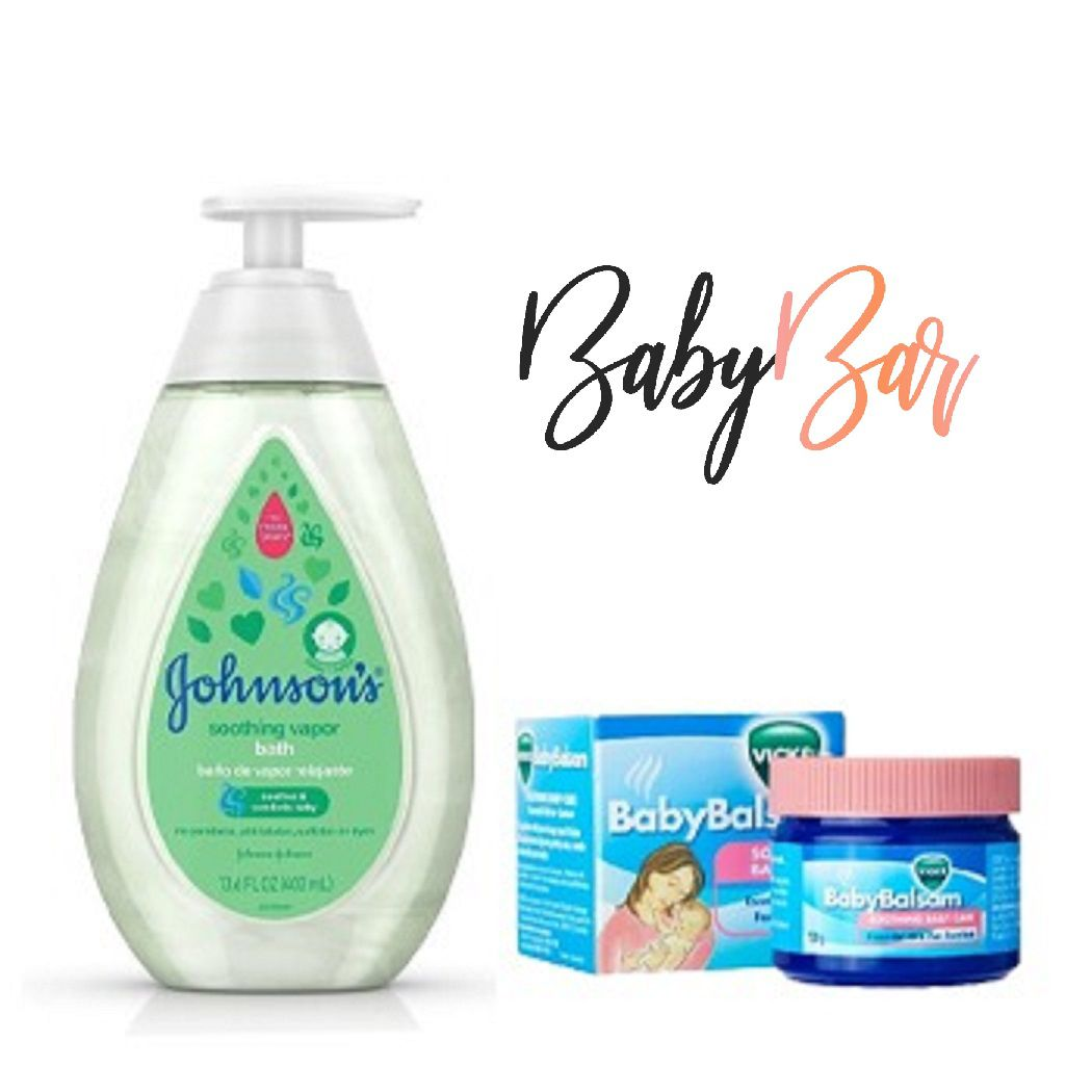 Kit Vapor Bath Johnsons + Vick Baby Rub