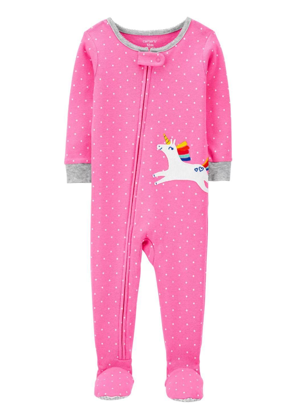 Macacão Malha Menina Unicórnio Pink - Carters