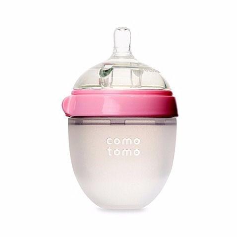 Mamadeira De Silicone 150ml Rosa - Comotomo
