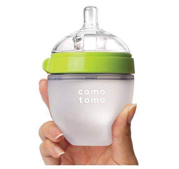 Mamadeira De Silicone 150ml Verde - Comotomo