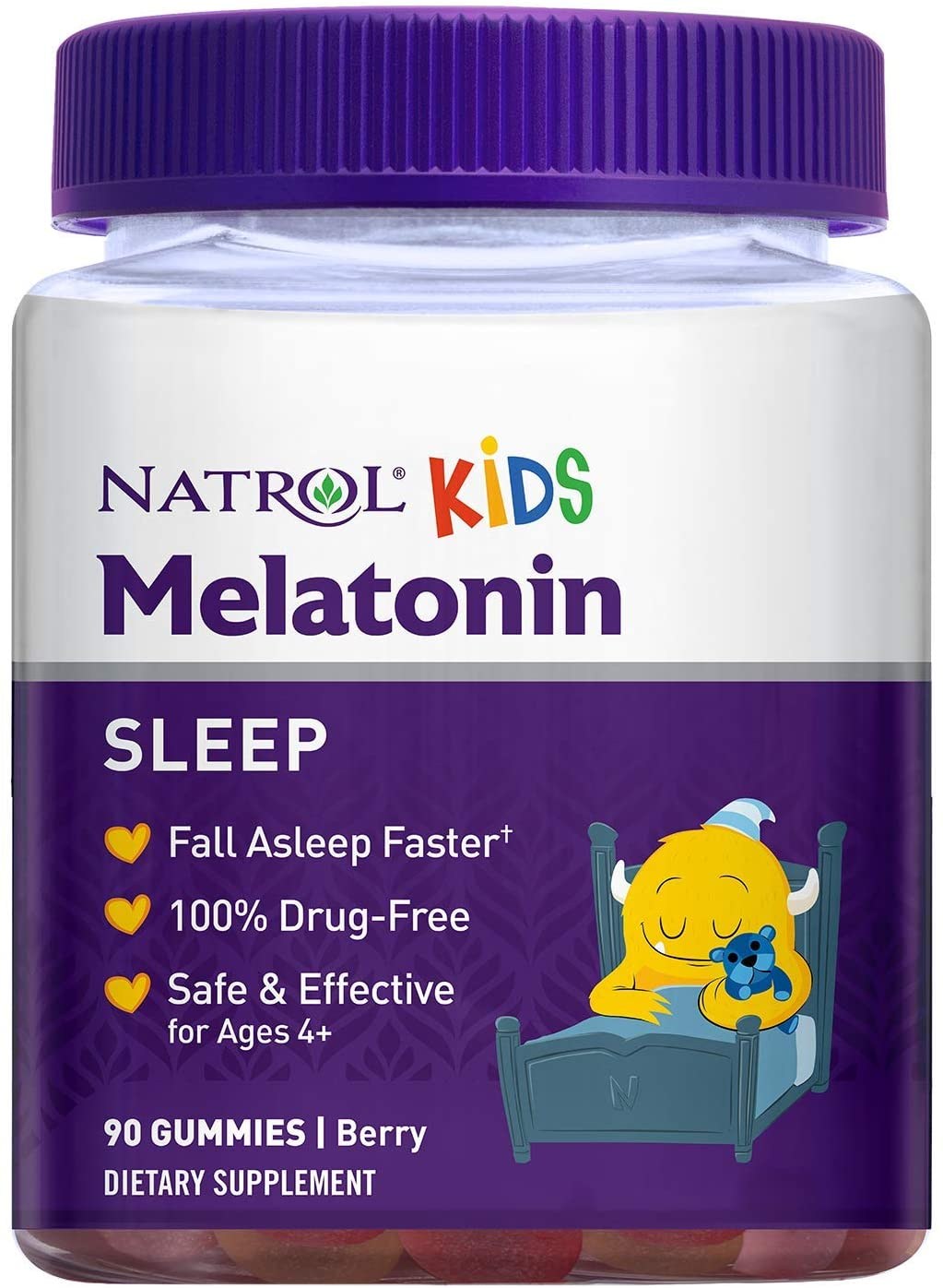 Melatonina  1mg (90 gomas)  Kids - Natrol