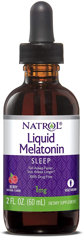 Melatonina  1mg (Líquida 60ml)  - Natrol