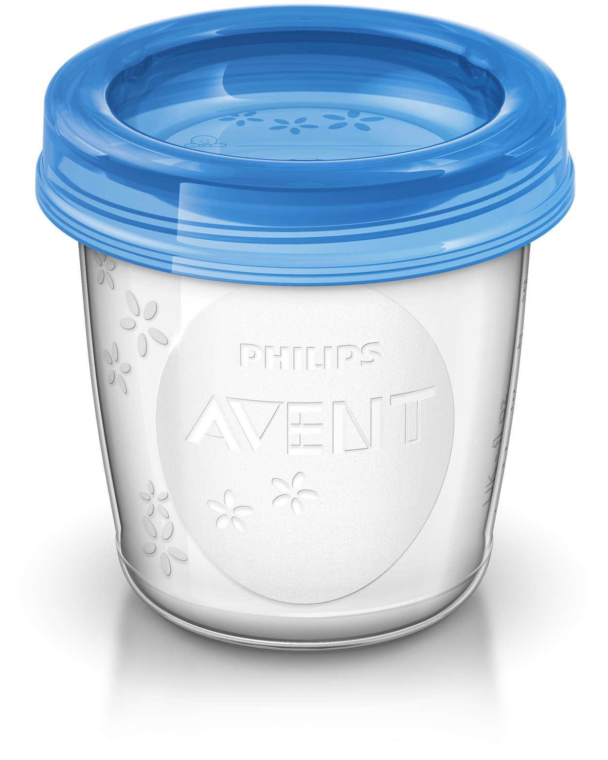 Potes para Armazenamento de Leite Materno 180 ml - Philips Avent