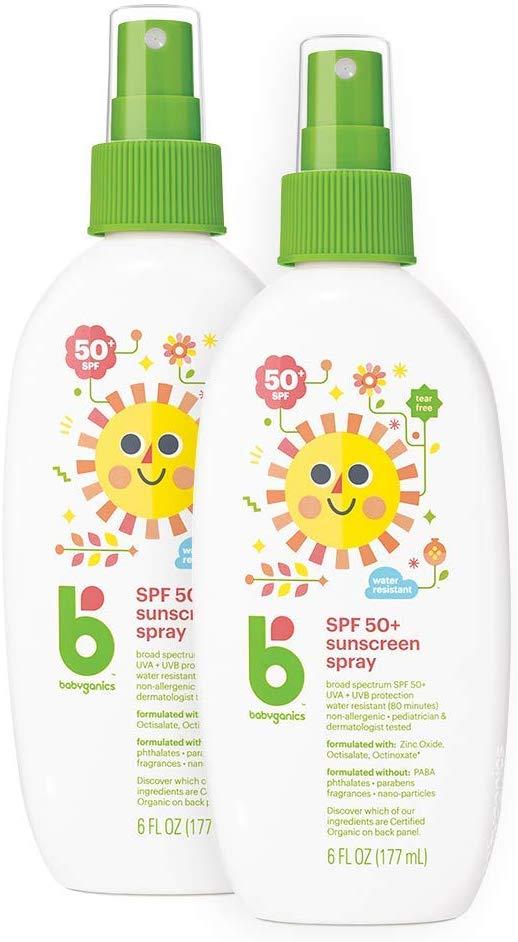 Protetor Solar 50 SPF Orgânico 177ml Spray  - Babyganics