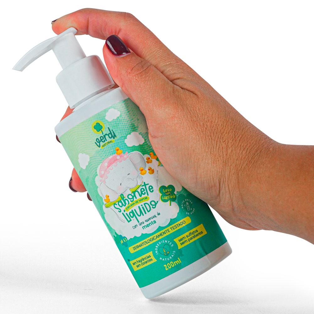 Sabonete Líquido e Shampoo Espuma de Vapor Descongestionante - Verdi