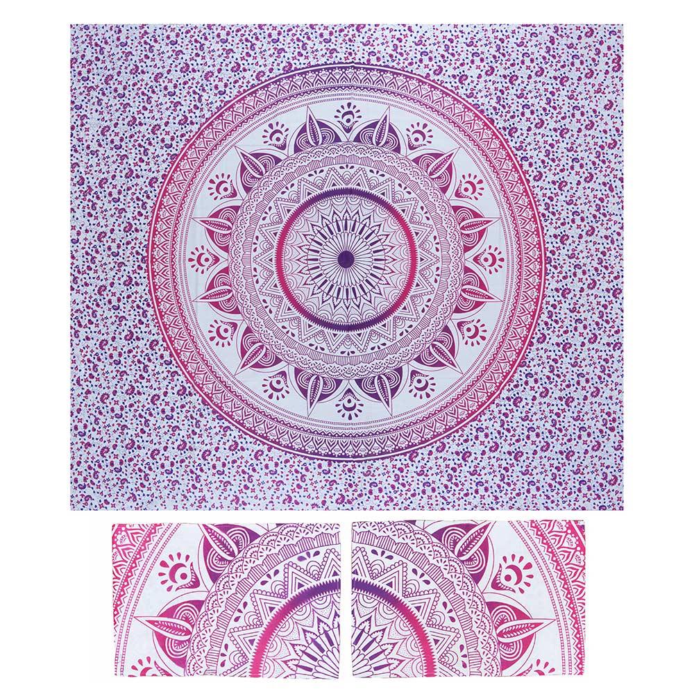 Bed Cover Com Capa de Almofada Mandala Luar