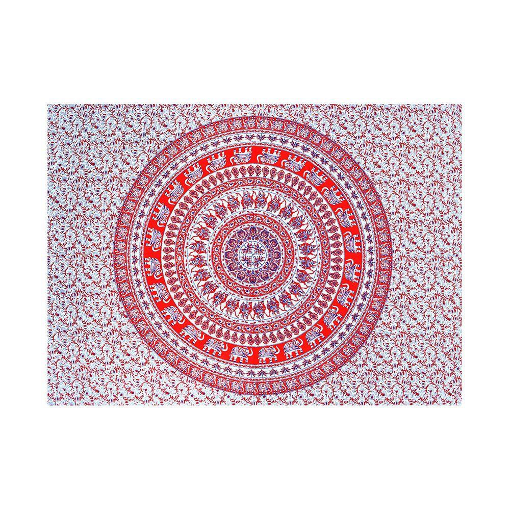 Bed Cover Com Capa de Almofada Mandala Com Elefantes E Flores