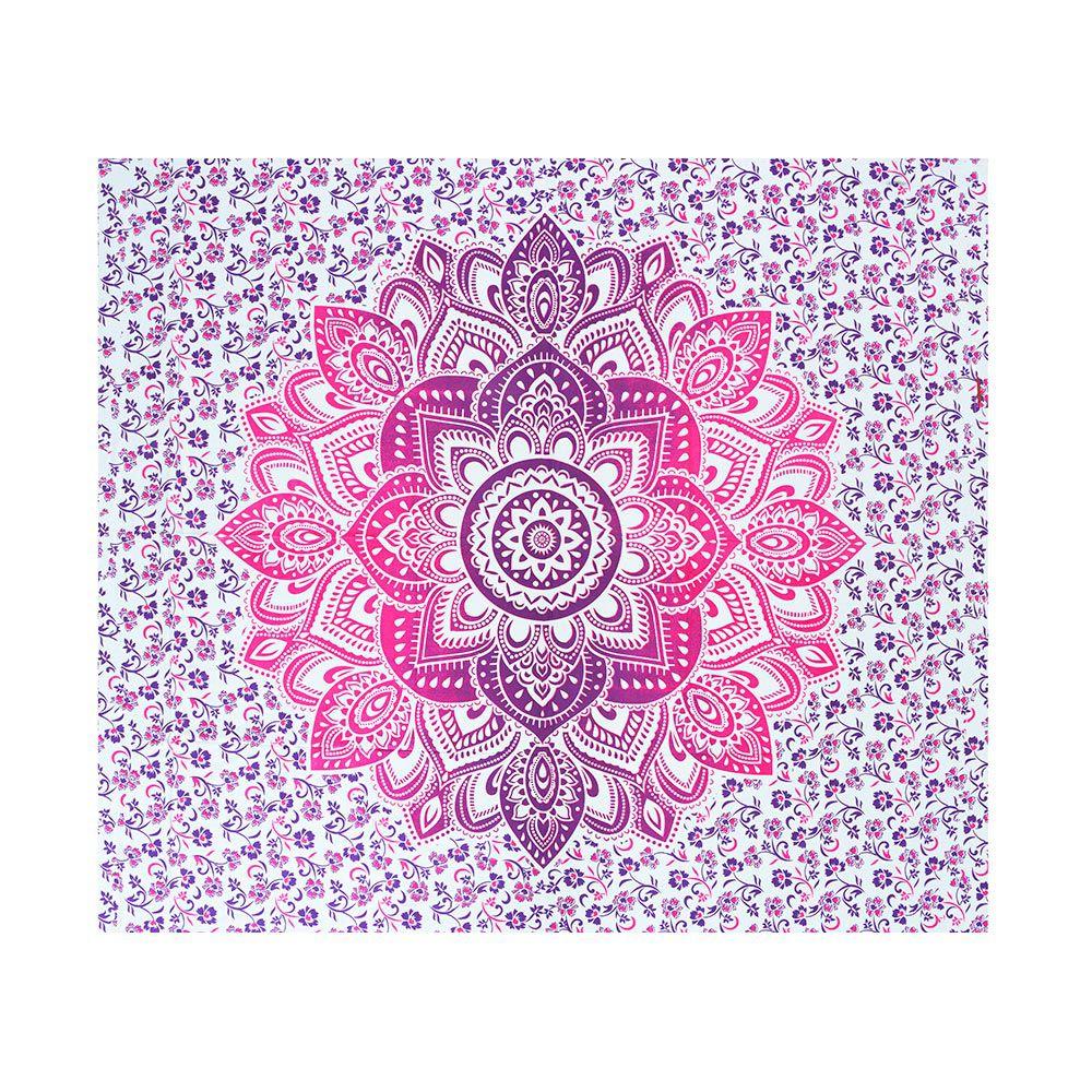 Bed Cover Com Capa de Almofada Mandala Floral
