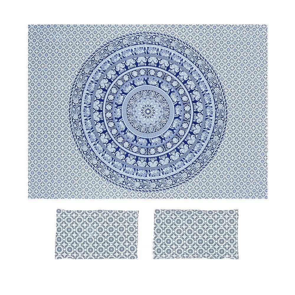 Bed Cover Com Capa de Almofada Mandala Mística