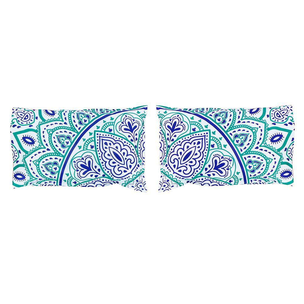 Bed Cover Com Capa de Almofada Mandala Sol