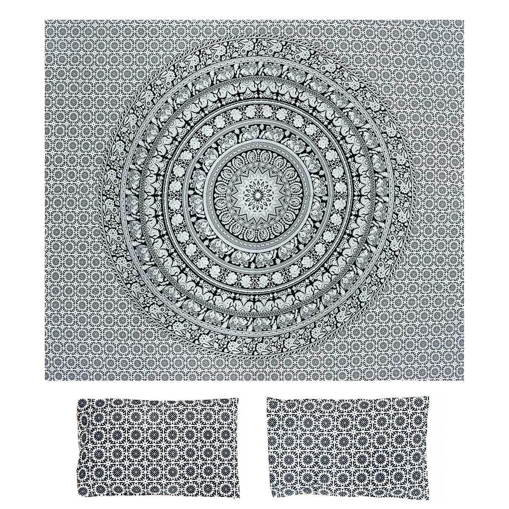 Bed Cover Com Capa de Almofada Vitral Black