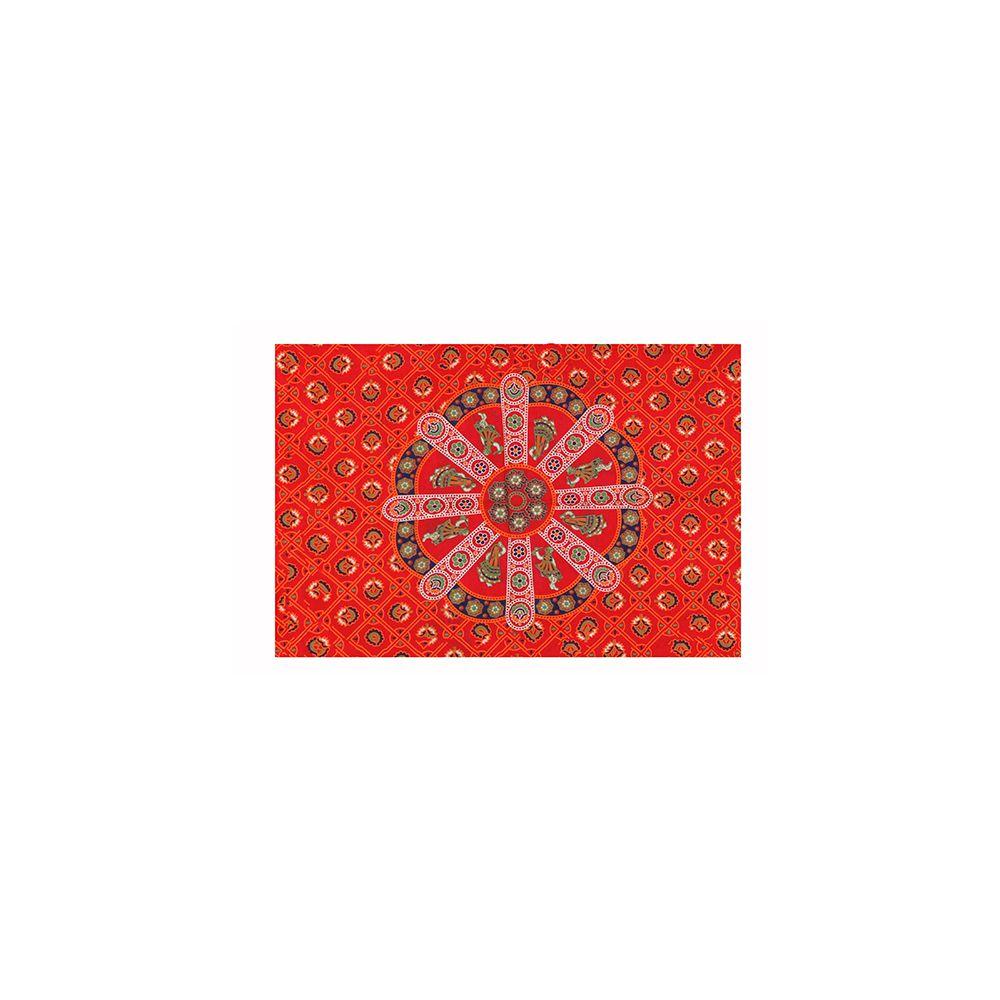 Bed Cover Solteiro Com Capa de Almofada Mandala Red