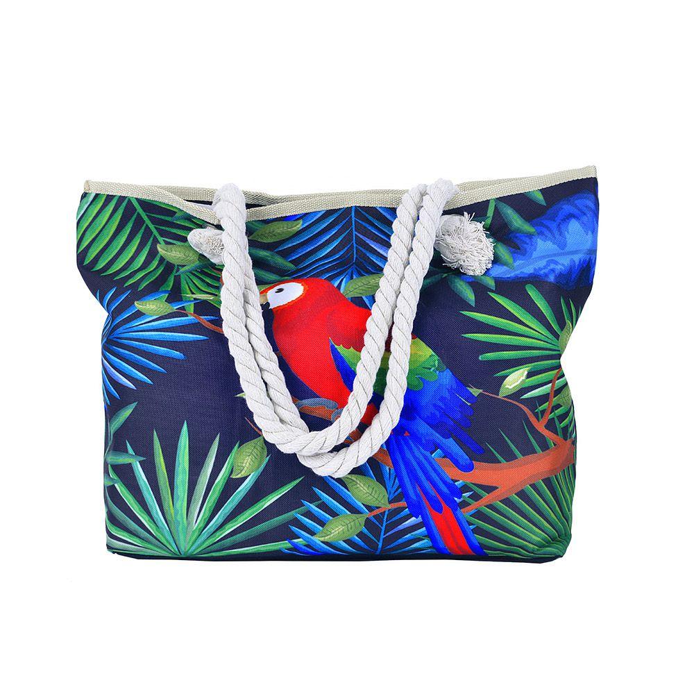 Bolsa de praia Arara Com Cordão