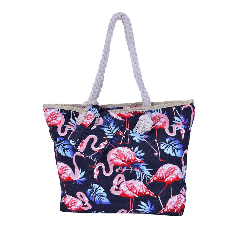 Bolsa De Praia Flamingo Noite