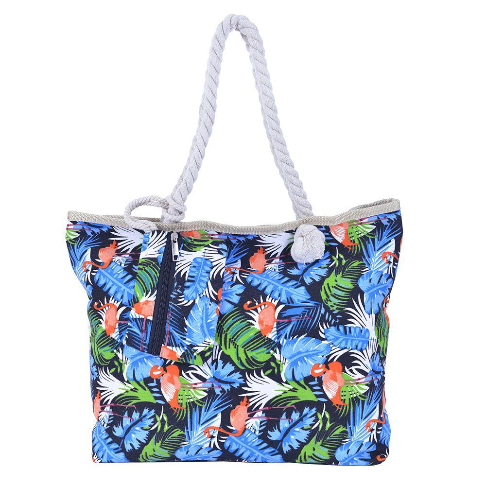 Bolsa de praia Flamingos Com Cordão