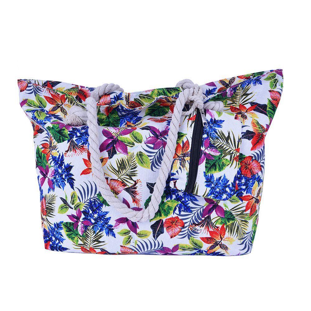 Bolsa de praia Flores Com Cordão