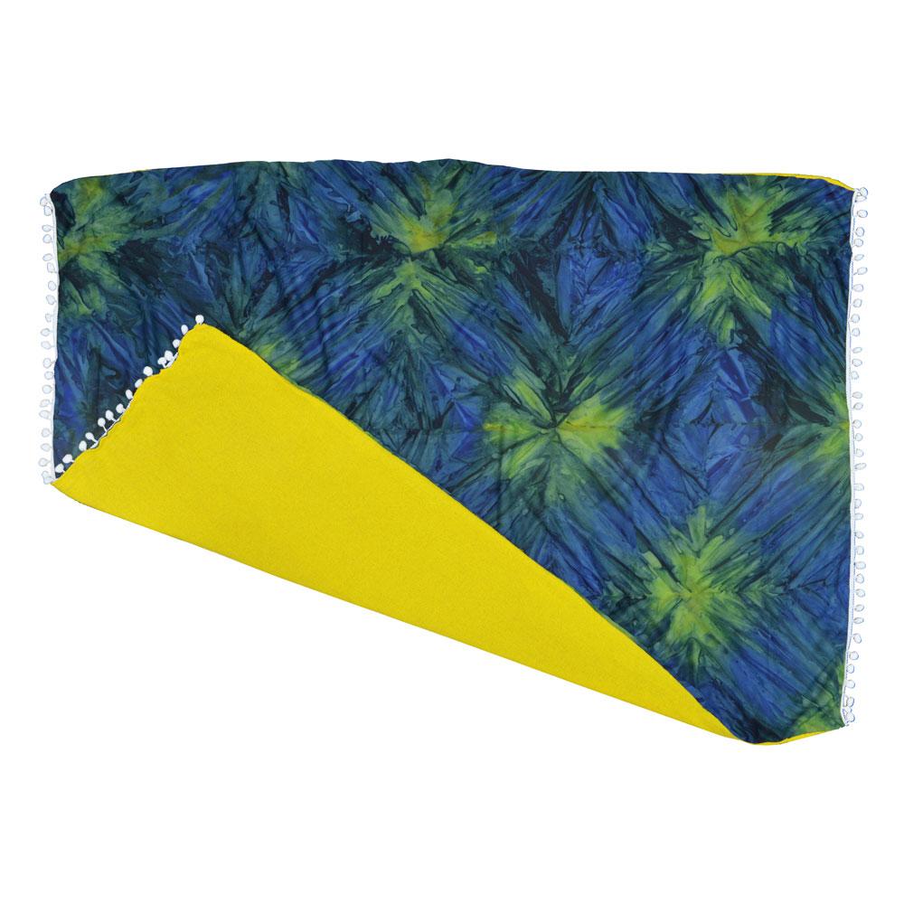 Canga atoalhada Tie Dye Verde com Azul