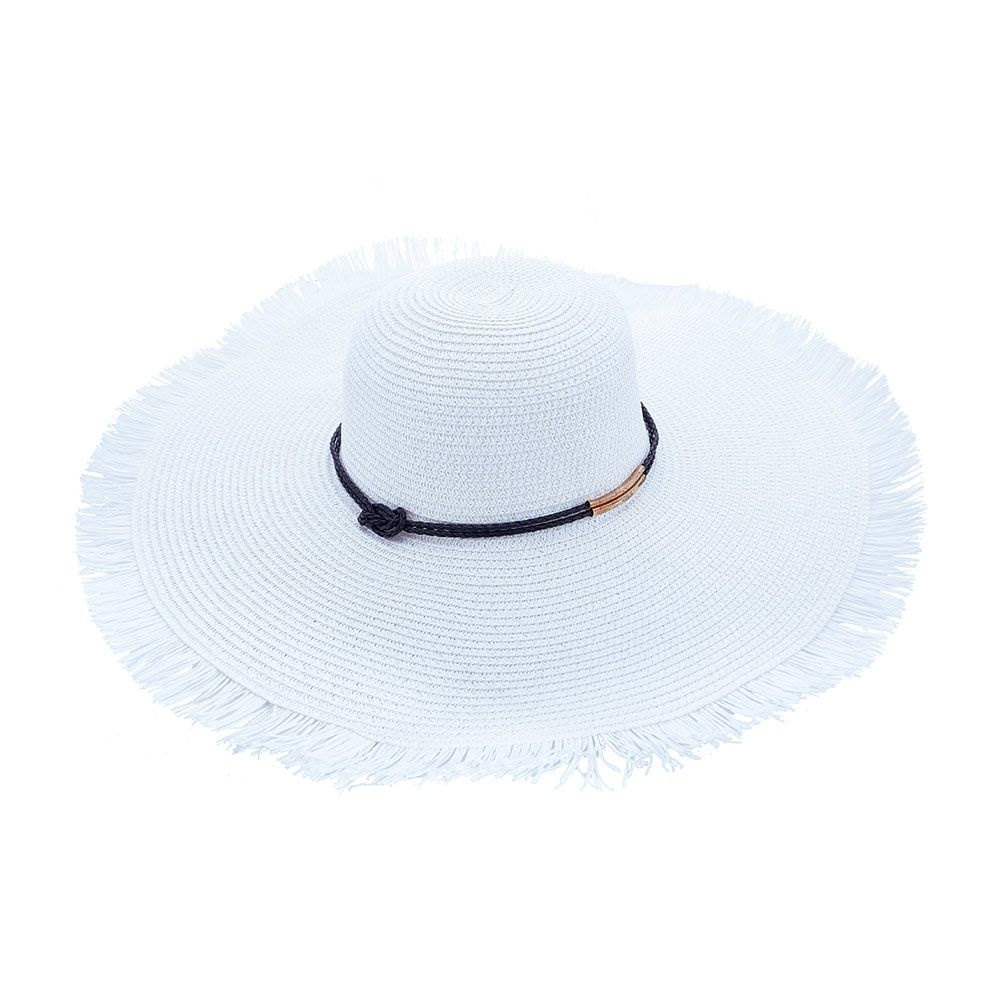 Chapéu De Praia Com Cordão Amarrado