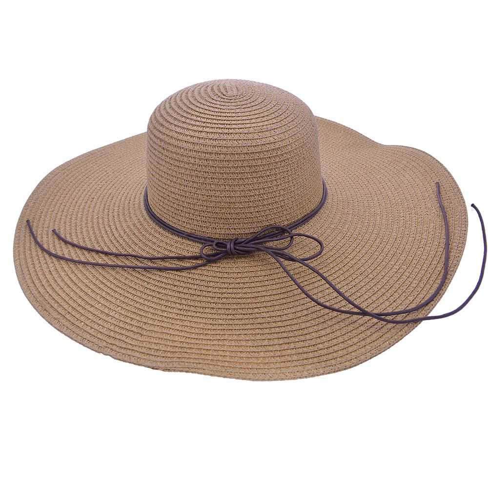 Chapéu De Praia Com Cordão Com Detalhes Em Couro