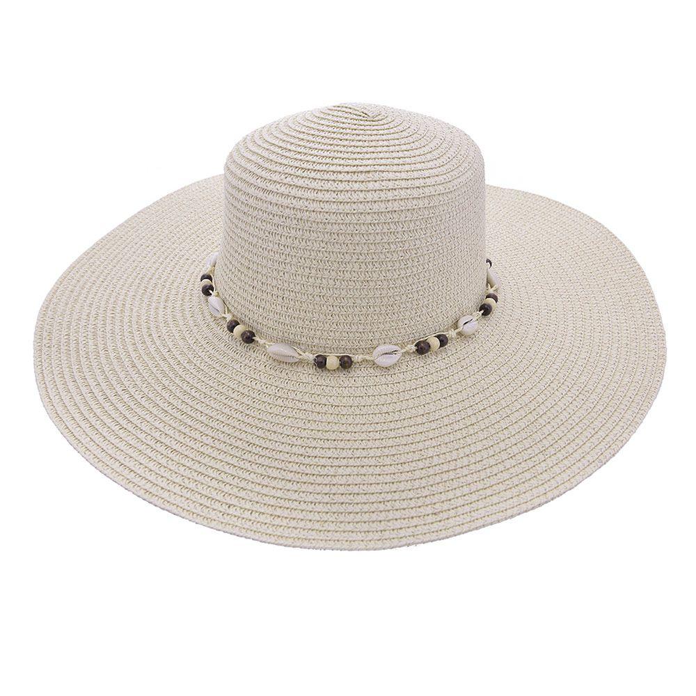 Chapéu De Praia Com Miçanga