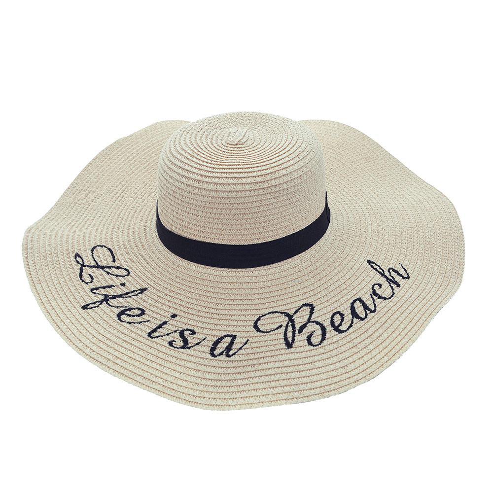 Chapéu de praia Life is a Beach