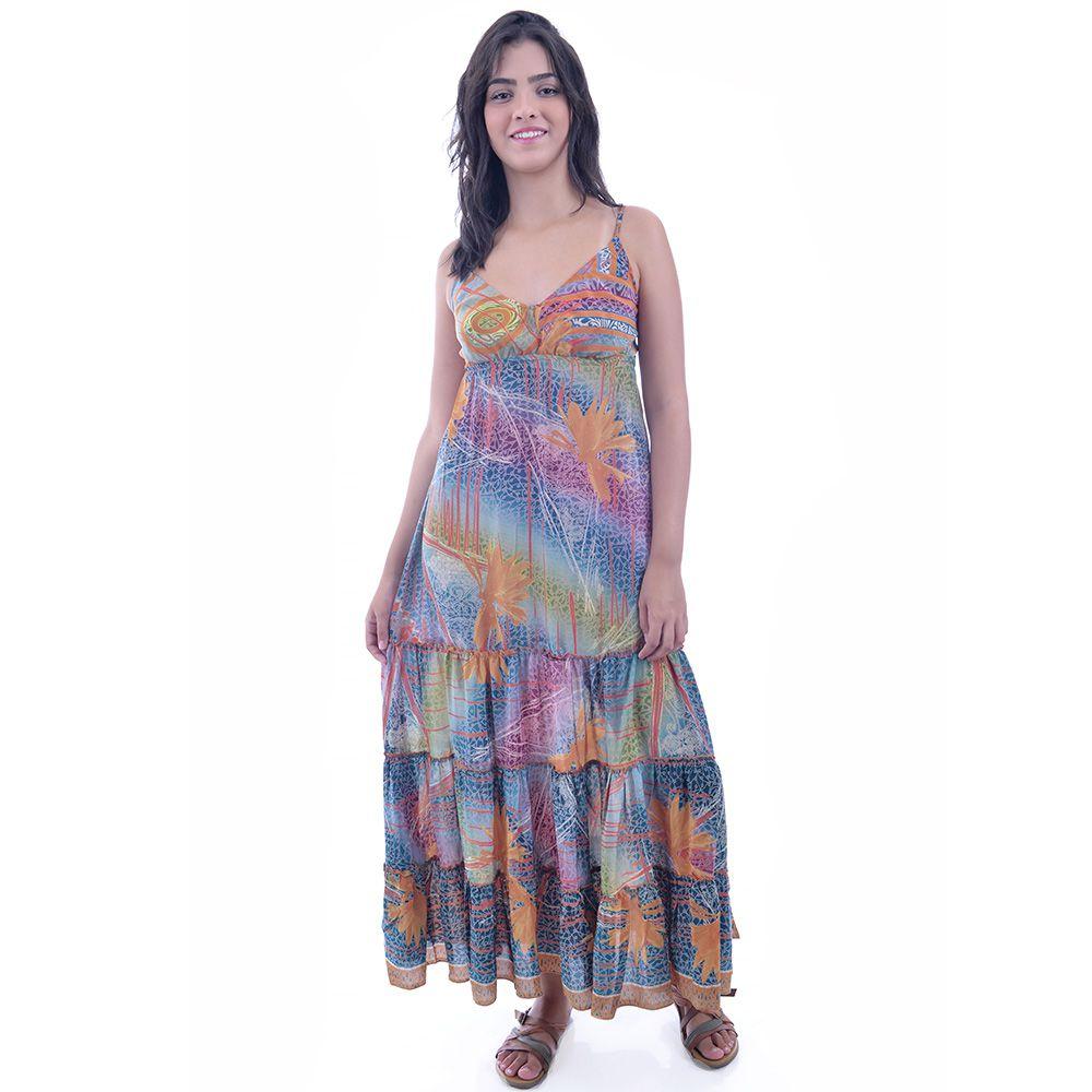 Vestido Indiano Colorido