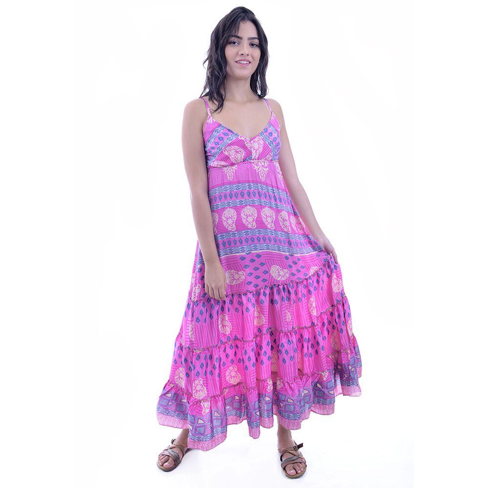 Vestido Indiano Rosa